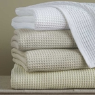 Packaging Customization [ Weave Blanket ] 100% Cotton Blanket China Supply Luxury 100%Cotton Hotel Waffle Weave Blanket