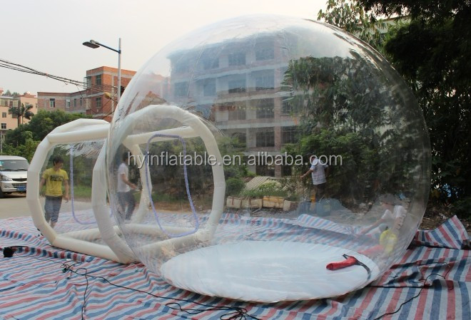 2015 inflatable greenhouse, Balloon shaped clear inflatable greenhouse