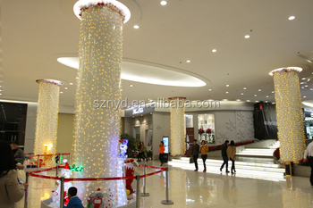 column decorations shopping mall indoor decoration hotel christmas decoration