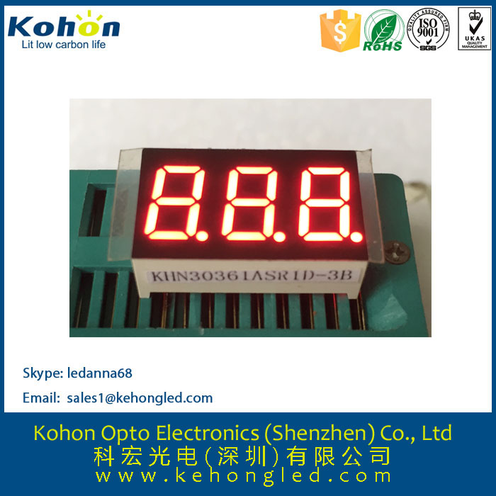 Seven segment LED digital display full color and size for DVD player