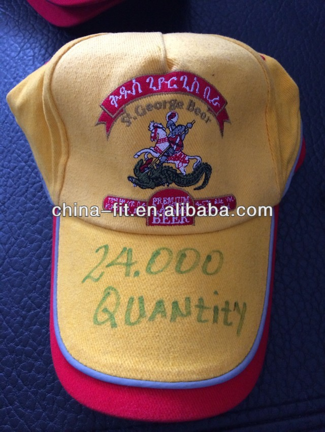 Baseball cap/hat Embroidered fluorescent kind to build