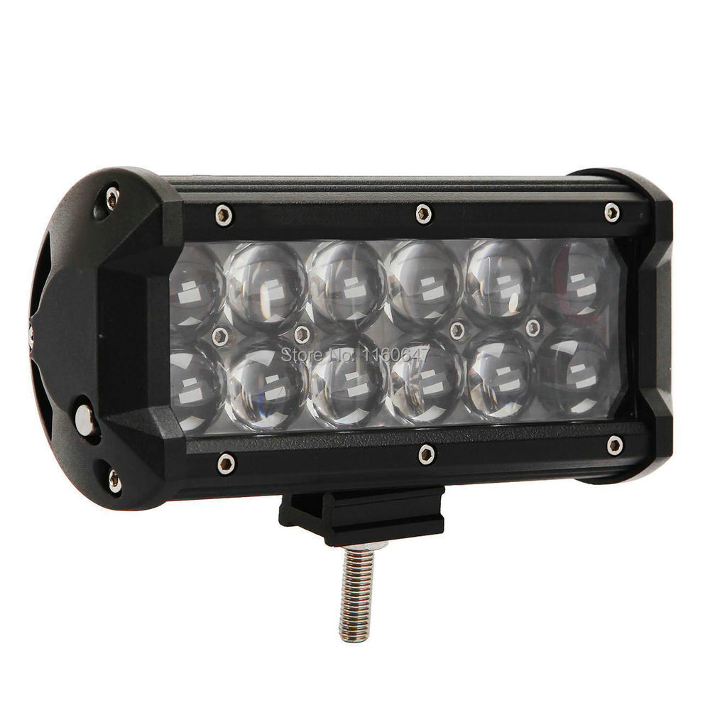 "7"" 60W OSRAM LED Work Light Bar Spot Offroad Lamp ATV 4x4 SUV Truck Boat Driving"