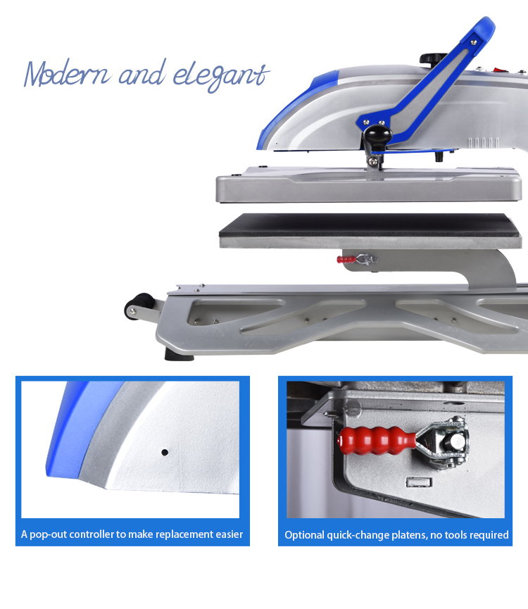2019 Prime 40x50cm Swing-away T-shirt Printing Heat Transfer Press Machine