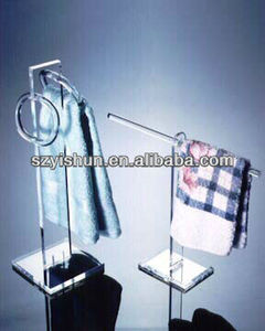 Manufacturing best custom acrylic towel rack acrylic towel bar