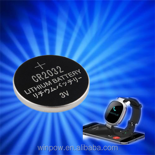 Lithium button cell battery for IP67 sport bluetooth wristwatch