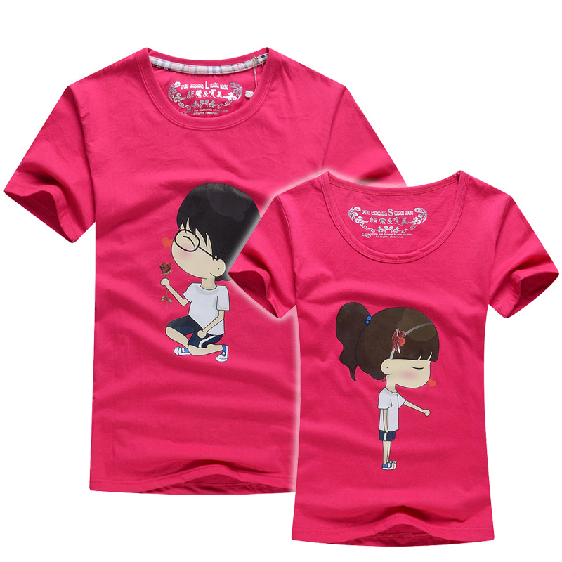 23313ad6bc Buy Couples Men & Women Heart LOVE t-shirts Printing100% Cotton Couple  LoversMarry t shirts t shirt couple lovers couple t shirt in Cheap Price on  ...
