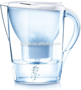 3.5L countertop alkaline water pitcher/jug with activated carbon filter cartridge