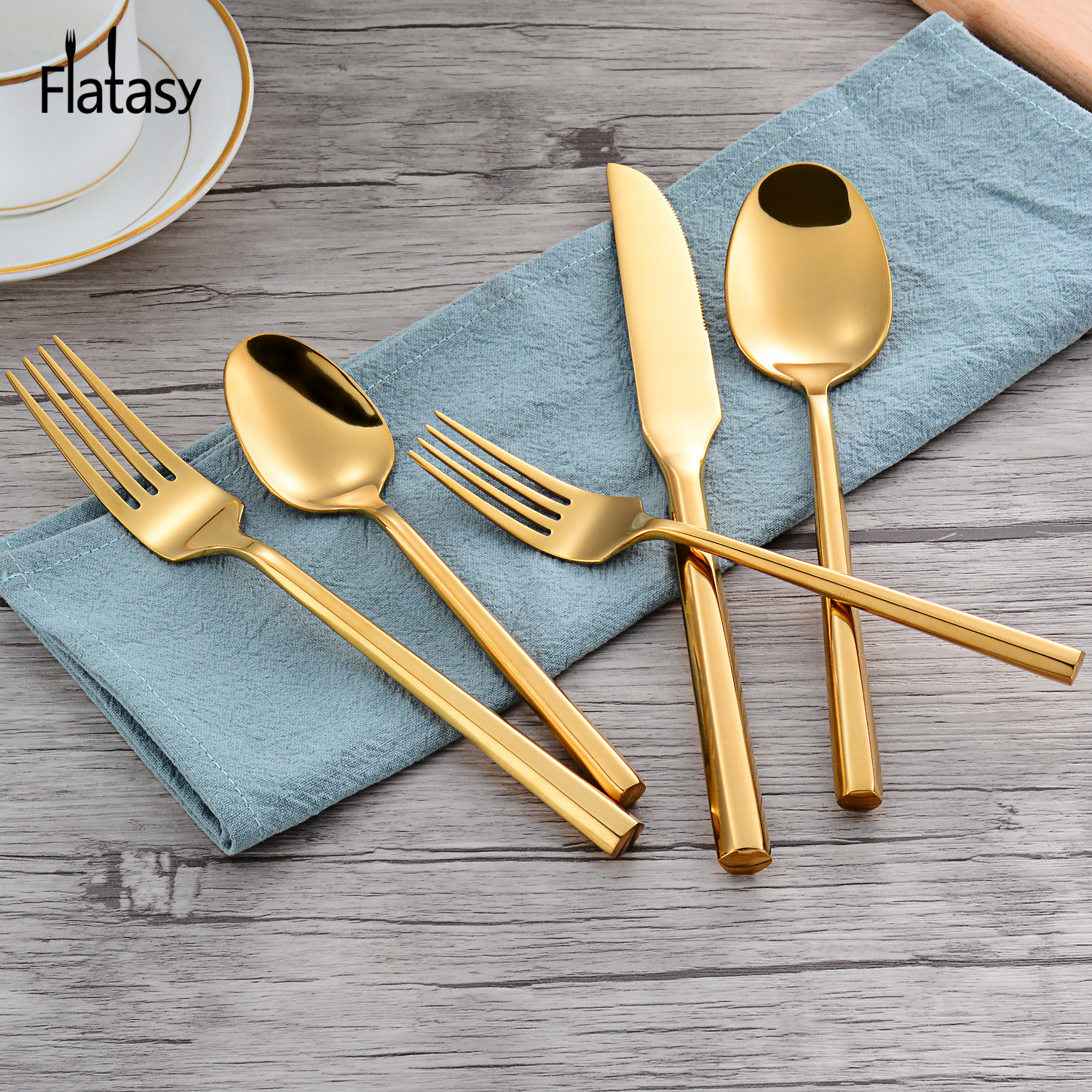 Unique design Fruit fork stainless steel cutlery flatware set for wedding event