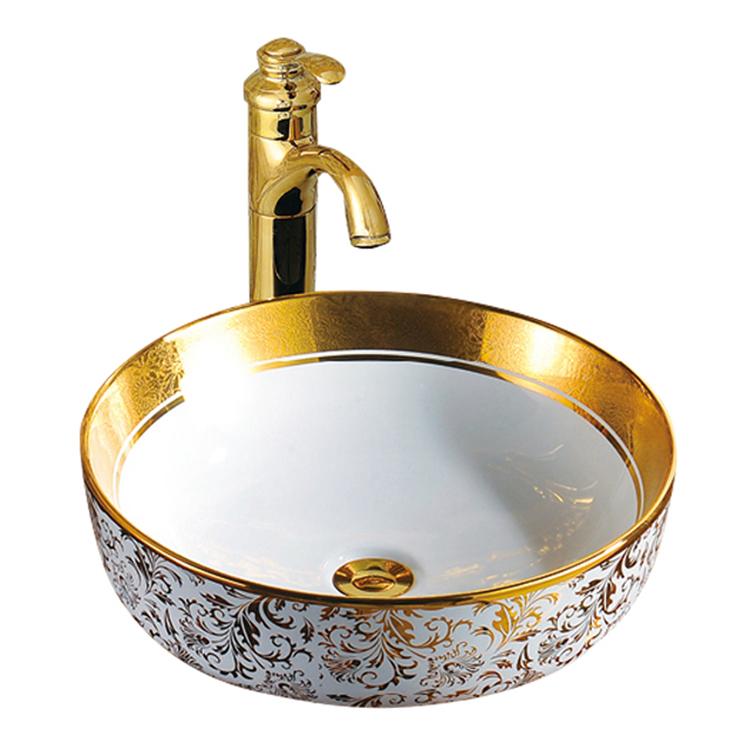 Dining Room Corner Ceramic Sink Wash Basin With Flower ...