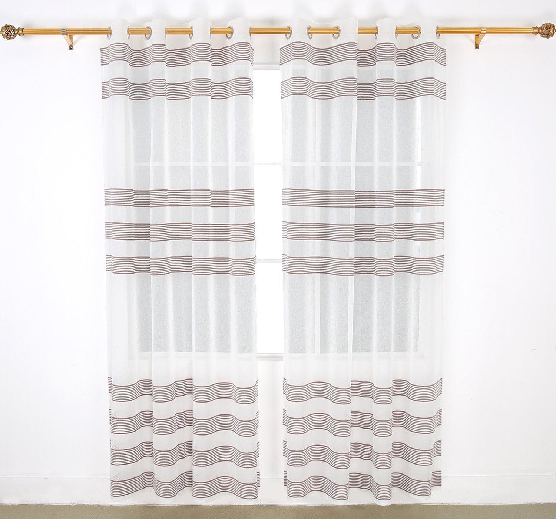 Sheer Door Panel Curtains Linen Look
