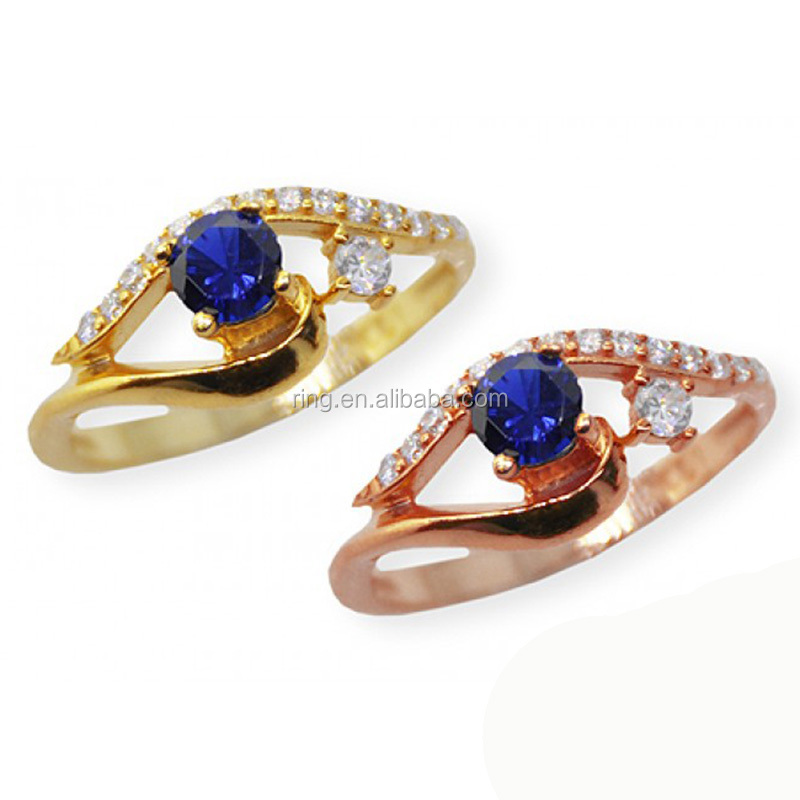 Religious Jewelry Hot Selling Eye Of Horus Sapphire Rose Gold Protecting Ring