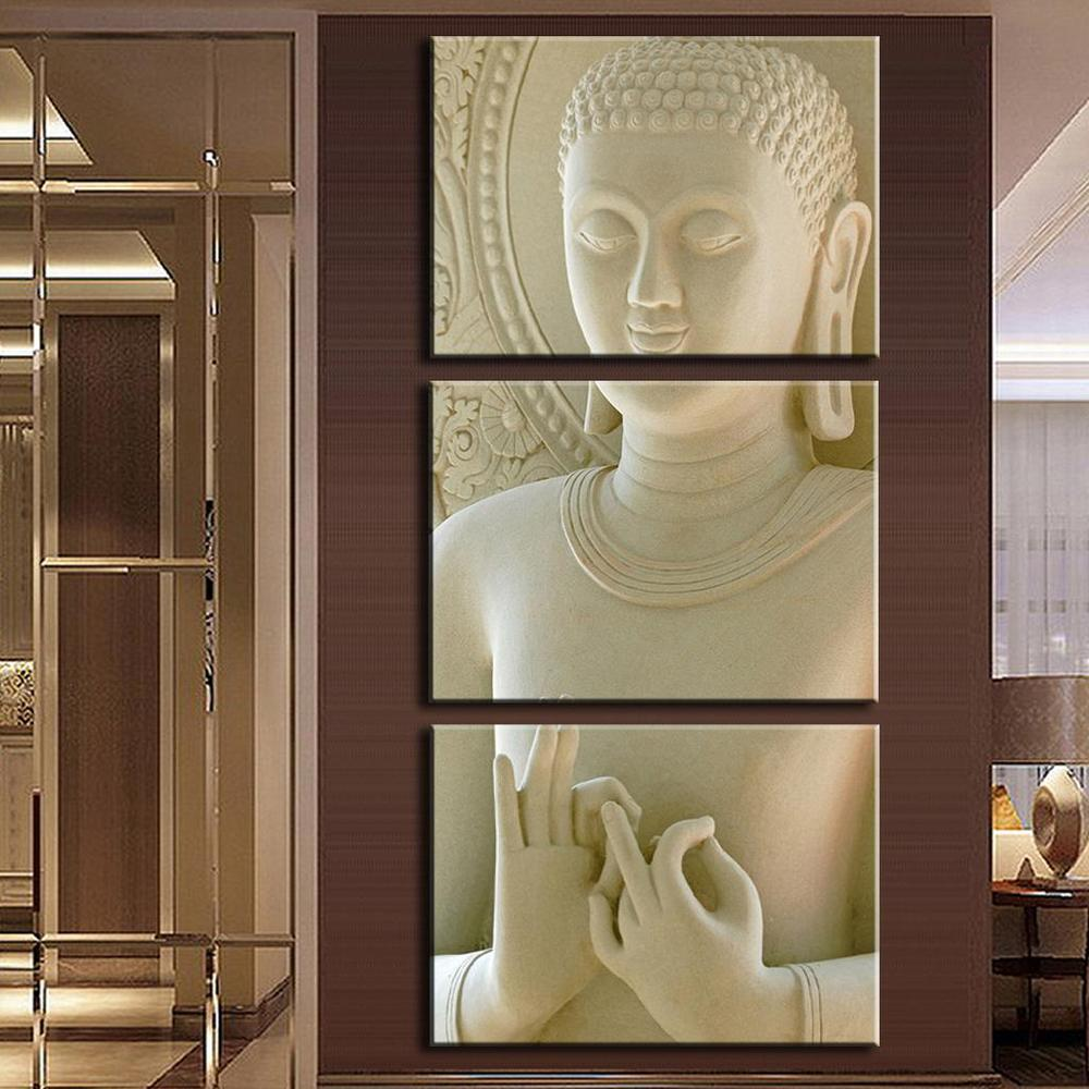 Marble Decoration: 2016 Modern Buddha Painting 3 Picture Home Decoration
