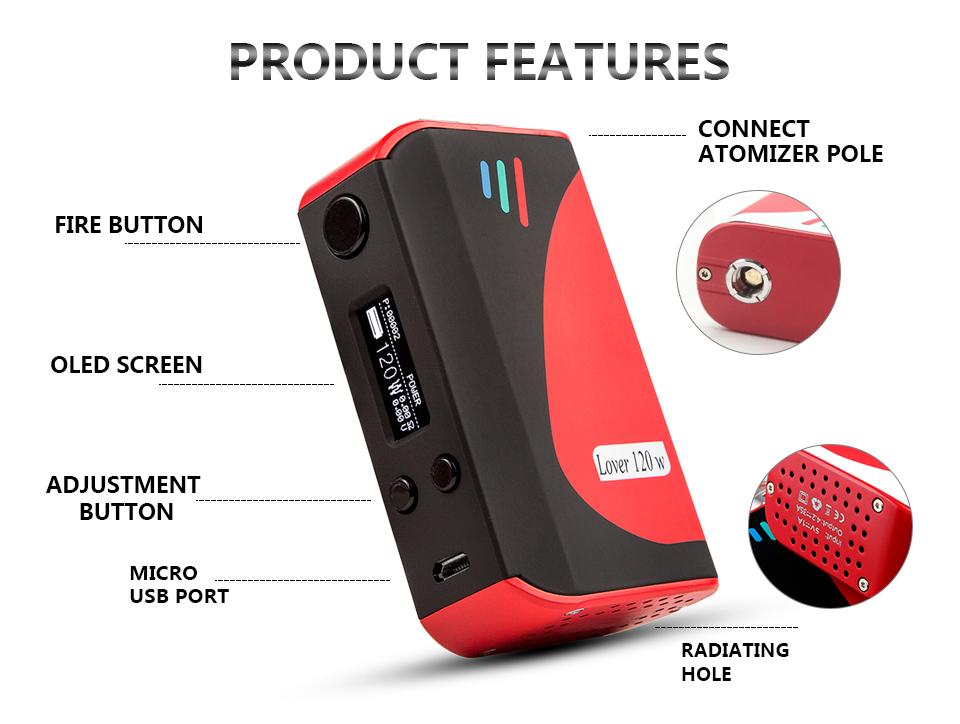Wholesale cheapest Vape pen us-vape Tc 120w high quality e cig box mod