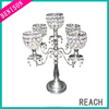 2013 new design acrylic 5 arm candelabra for wedding centerpiece decoration candle holder