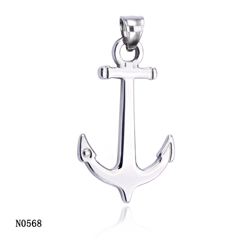 hot selling cheap price cross anchor stainless steel jewelry pendant necklace