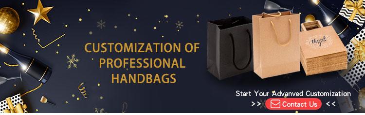 Cheap Custom Thank You Printing Kraft Paper Bag With Handle Hand Bag