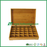 Large Size Bamboo Tea Box Storage Box with Compartment