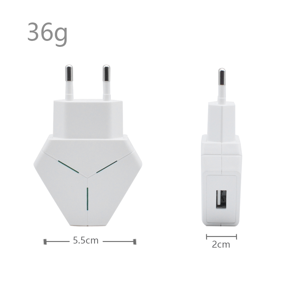 King Kong Side EU Plug Chargers Travel USB Charger USB Adapter Chargers Mobile Phone Wall Charger