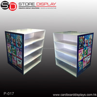 Pop up two sides shoes Display Rack/ Display Stand with offser print for new products