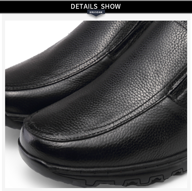 New Fashion Male Dress Shoes Genuine Leather Soft Outsole Comfortable Material Casual Men's Elevator Shoes Made In China