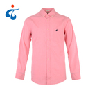 Factory supplier casual 100% cotton pink button up long sleeve latest fashion design men shirt
