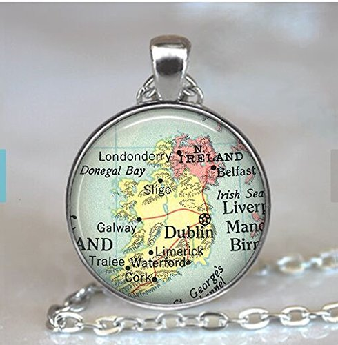 Ireland map pendant charm, Ireland necklace resin pendant, Ireland map jewelry Ireland pendant, Ireland key chain, Ireland keychain