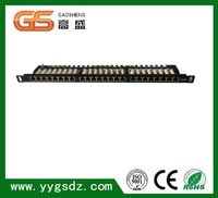Cat 6 Universal Patch Panel 24 Port 1RU Cable management bar included