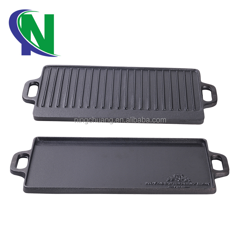 Cast Iron Double/Reversible Griddle Tray 45x23cm