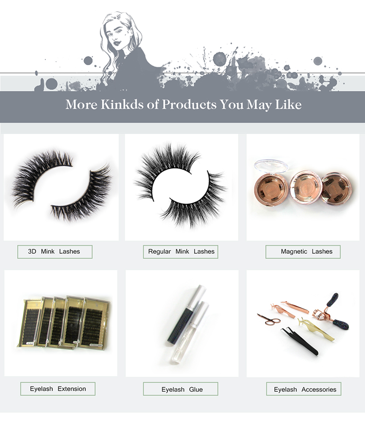 76cde41484e Eyelash company in qingdao blink faux mink lashes with customized packaging