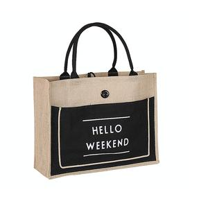 Factory Custom Cheap Jute Tote Bag Jute Shopping Bag Picture of Jute Bag