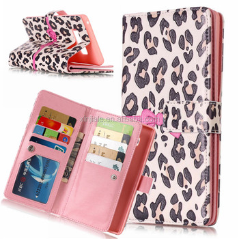 5c5de22f6c3 China supplier printed leather wallet 9 card slots mobile phone cover flip  case for Samsugn Note