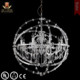 2017 Wrought lamp Orb iron chandelier with crystals