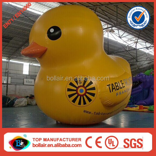 Wholesale price custom yellow giant inflatable christmas ducks