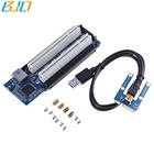 Mini PCI-E PCIe to 2 PCI Slot Expansion Riser Card Adapter with Data cable