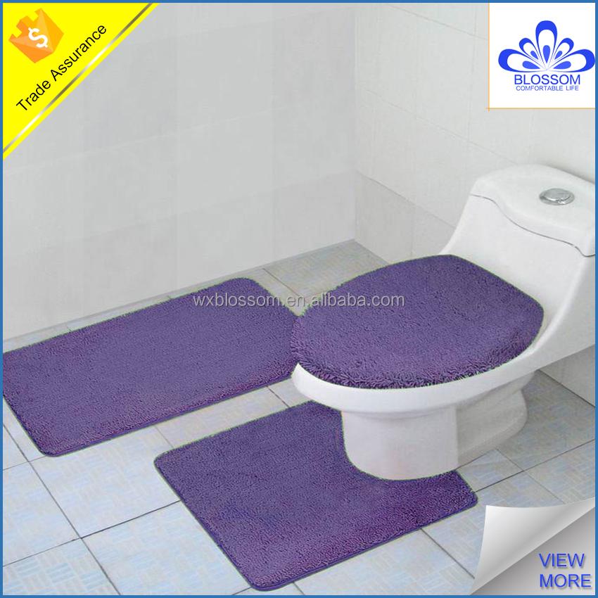 nach ma 3 st cke violett polyester bad teppich set matte. Black Bedroom Furniture Sets. Home Design Ideas