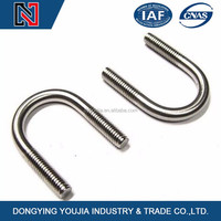 Factory made stainless steel u bolt with washer and nut