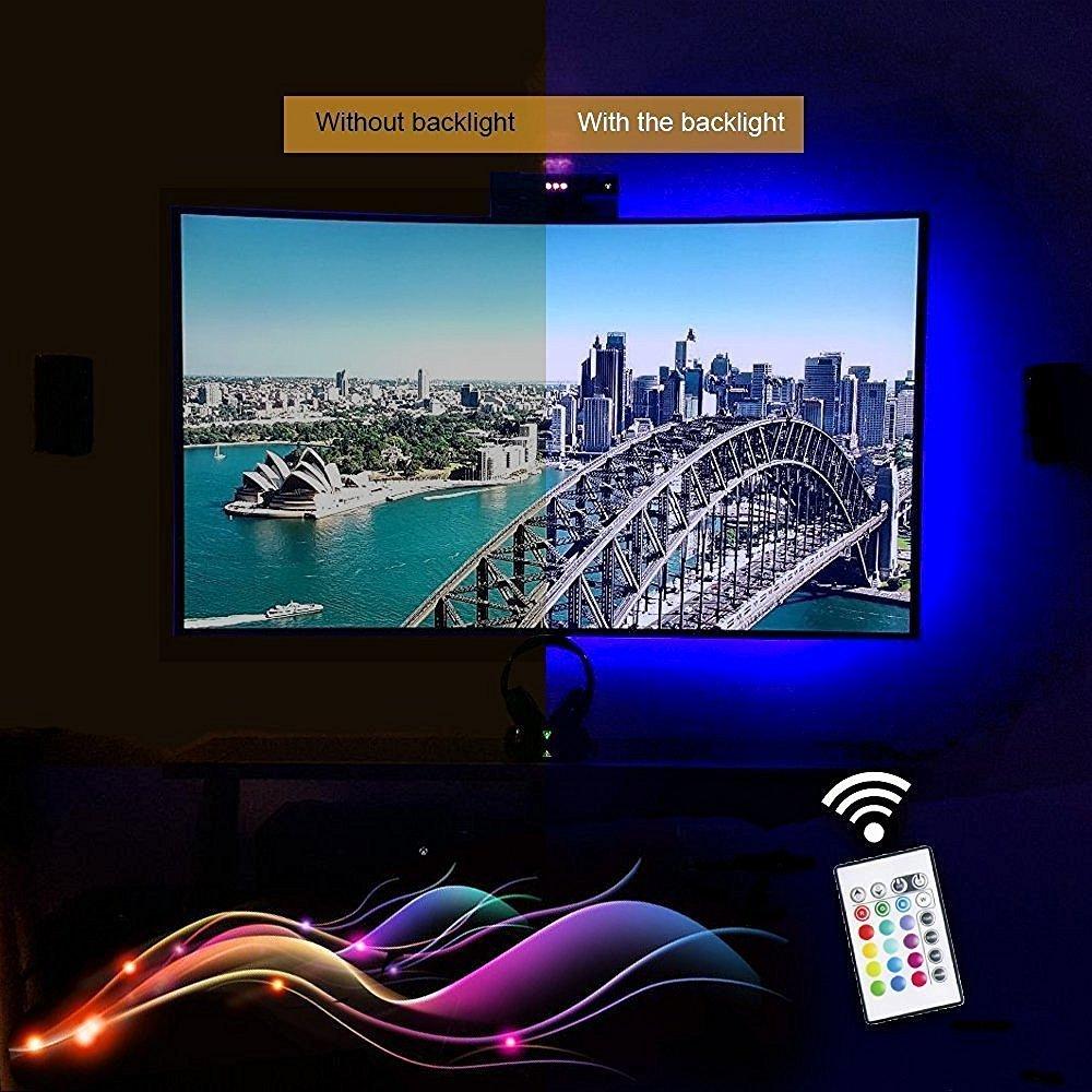 Dc5v Usb Ed Rgb Colour Change 5050 Led Strip Lamp Computer Tv Backlight Ambient Lighting Kit Screen Lcd Desktop Pc
