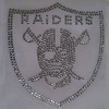 wholeale custom raiders for rhinestone iron on transfer