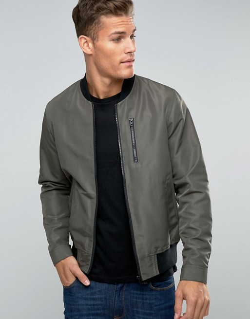 Fashion Satin Winter Jacket Coats And Men Jackets Bomber Jacket With Zip Chest Pocket