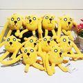 10pcs lot Anime Adventure Time Jake Finn Plush Toy Stuffed Doll With Ring Plush Pendant 6