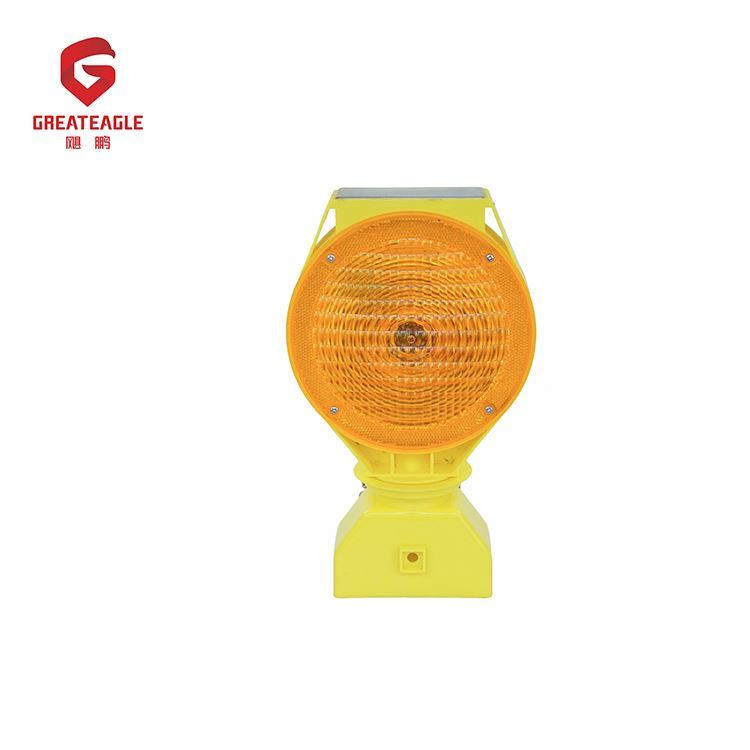 Promotional price easy installation high brightness solar power warning light
