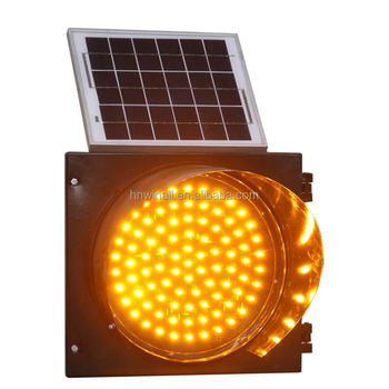 New Arrival 300mm Flashing Yellow Light, Mini Solar Powered Led Light,  Traffic Yellow Red