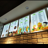 led board display fast food advertising menu