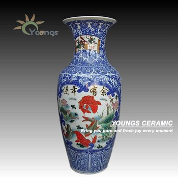 90cm Tall Chinese Big Large Ceramic Vase For Home Indoor Decor Buy