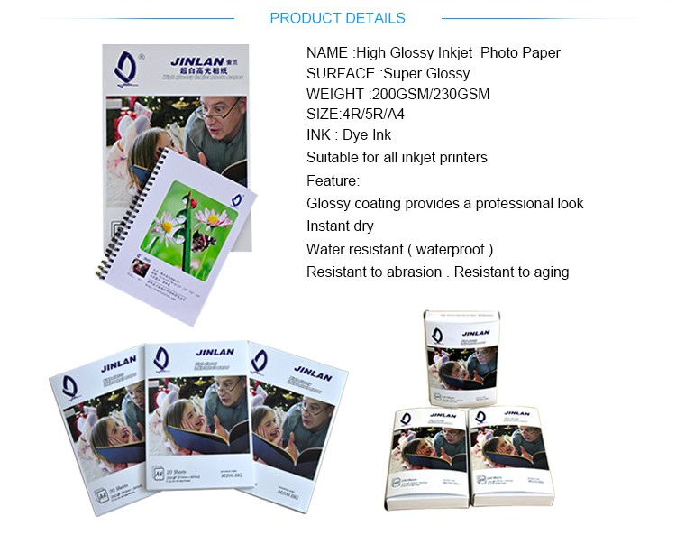 Dependable performance a4 high glossy photo paper