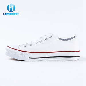New arrival hot sell female student women casual shoe white canvas shoes wholesale