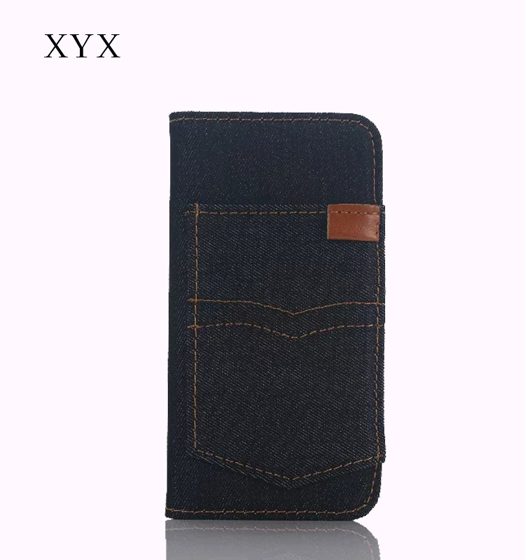 for sony xperia z c6603 c6602 l36h case cover with flip pu leather denim back pocket slot mobile phones
