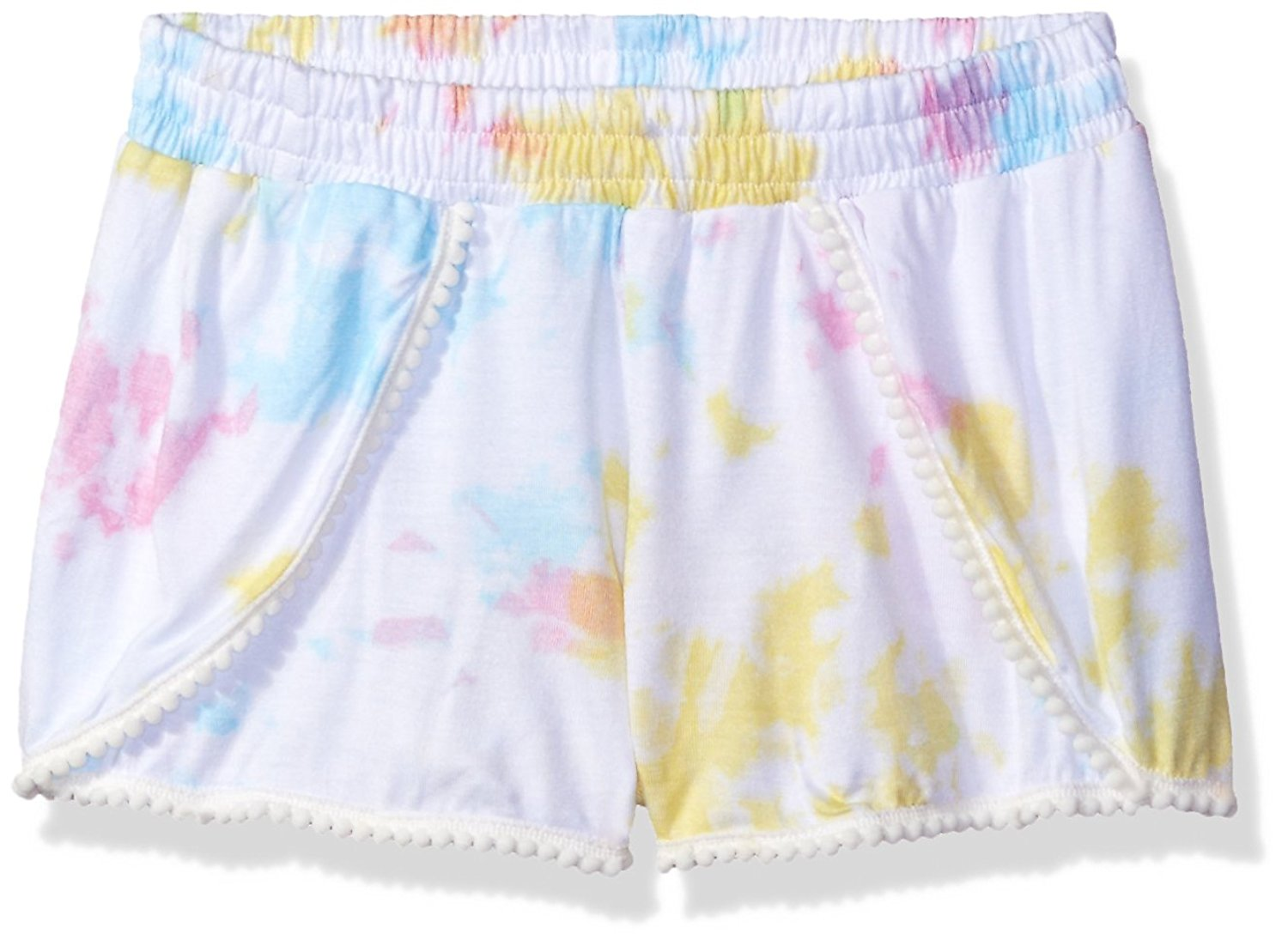 Flowers by Zoe Girls' Pastel Tie Dye Short with Pompom