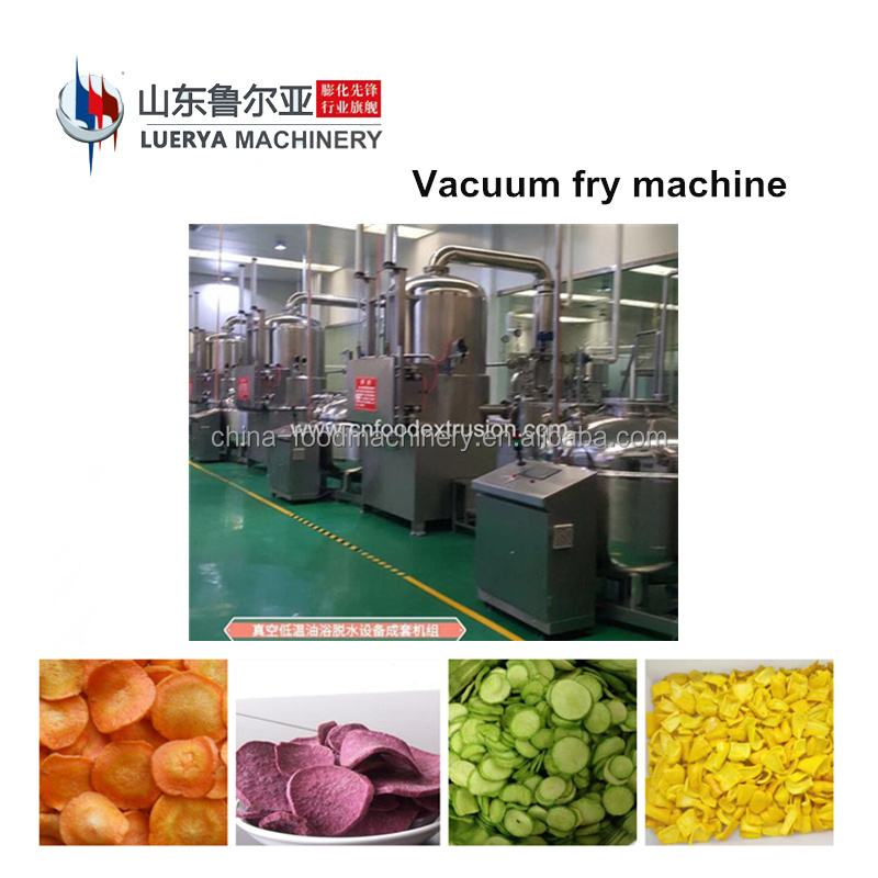 New type vacuum fried vegetable or fruit chips machine processing line