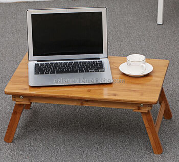 New Adjustable Bamboo Folded Laptop Bed Table/ Wooden Laptop Stand